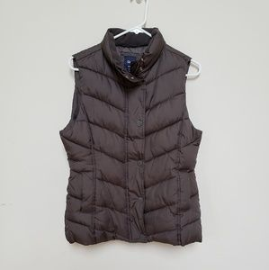 GAP Brown Puffer Vest Medium